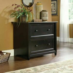 2 drawer File Cabinet Lateral Document Organizer Storage Office Furniture Black
