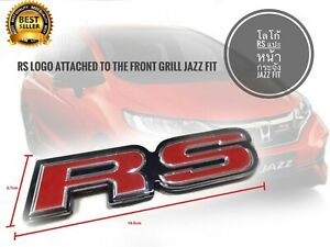 Rs Logo Attached To Honda Jazz Fit Front Grille 2014 2022 Size 15 5 X 2 7 Cm