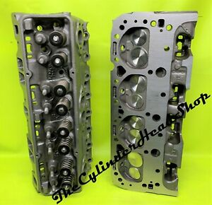 Performance 327 350 400 Chevy Cylinder Heads 441x Sbc New Guides 500 Springs