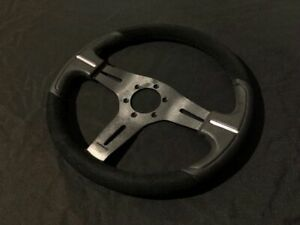 Nrg St 033 Suede Leather Universal Steering Wheel Fits Momo Sparco Pattern