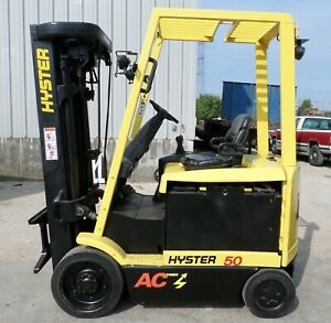 Hyster E50z 33 2007 5000 Lbs Capacity Great 4 Wheel Electric Forklift
