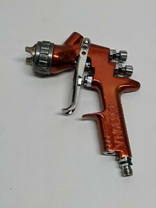 Devilbiss Tekna Copper Spray Gun Aircap 7e7 Fluid Nozzle 1 3mm Used As Is