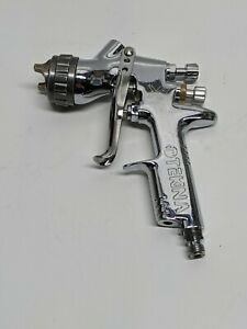 Devilbiss Tekna Chrome Spray Gun Aircap 7e7 Fluid Nozzle 1 4mm Used As Is