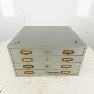 Numeridex 17 x19 Vintage 4 Drawer Compartment Small Parts Storage Steel Cabinet