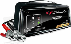 Schumacher Sc1361 12v Fully Automatic Battery Charger Black