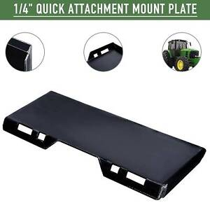 1 4 Quick Attach Mount Plate Attachment For Tractors Skid Steers Loaders