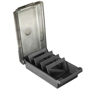 4 Divider Index Holder Large Capacity School Board Business Card Box Storage