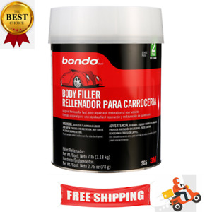 Auto Bondo Body Filler Kit Metal Car Boat 1 Gallon Cream Hardener Automotive 265