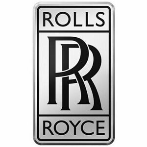 Rolls Royce Chrome black Radiator Vintage Rr Logo Small Badge Classic Car