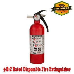 Fire Extinguisher 5 b c Rated Disposable Emergency Home Car Garage Boat Kidde