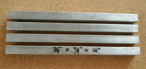 4 Pieces Of 6061 Aluminum Square Bar 3 4 X 12 Long Solid Stock T6511