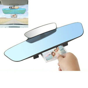 Anti glare Blue Glass Wide Angle Rear View Mirror Fit For Car Interior Panoramic
