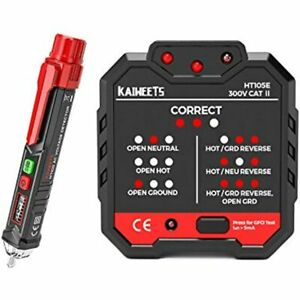 Non contact Voltage Tester amp Electrical Outlet Tester gfci Tester Dual Check