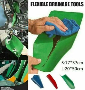 Mintiml Draining Tool Funnel Flexible Oil Draining Funnel Tools Workshop 2 Sizes