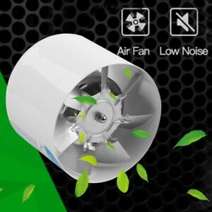 4 Inch Duct Booster Inline Blower Vent Fan Cooling Exhaust Plastic Blade