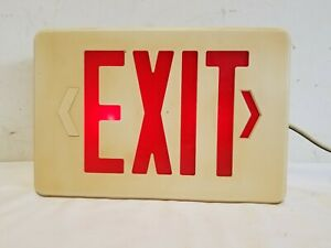Vintage Plastic Lighted Exit Sign Corded Novelty Nightlight Collectable 120v