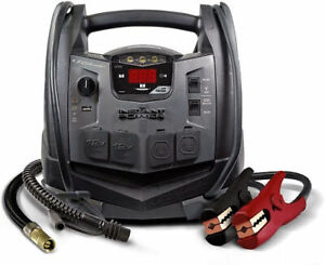 Schumacher Sj1332 12v Rechargeable Agm Jump Starter Portable Power Station Blk