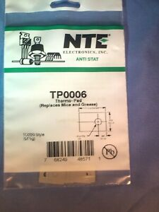 Tp0006 Thermo pad replaces Mica And Grease For To220 5 Pack