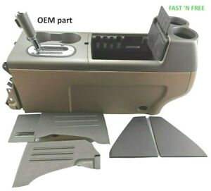 04 05 06 07 08 Ford F 150 Front Floor Center Console Column Shifter Tan Gray Oem