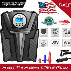 12v 150psi Tire Inflator Air Pump Compressor Electric Portable Digital Screen A