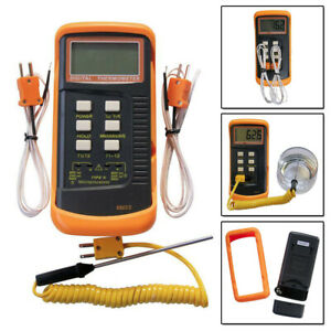 Dual Channel K Type Digital Thermocouple Thermometer 6802 Ii Sensors Probe
