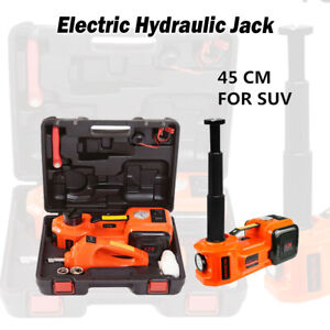 Car Electric Hydraulic Jack Suv Floor Impact Wrench 45mm 12v 5 Ton Lift Tire Kit