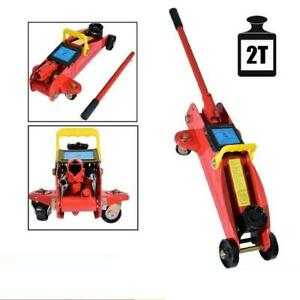 2 Ton Portable Heavy Duty Steel Low Profile Hydraulic Floor Jack Stands Tool
