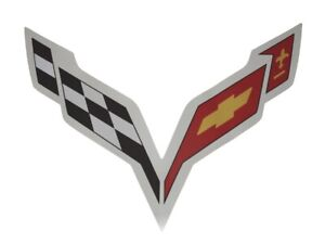 2014 2019 C7 Corvette Hood Liner Pad Decal Fits Perfectly Over Embossed Logo