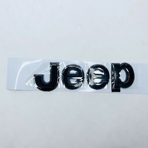 Jeep Wrangler Glossy Black Jeep Emblem Letters Mopar Hood Trunk Decal