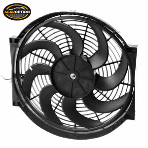 Universal 14 In Pull Push Electric Radiator Engine Cooling Fan W Mount Kit