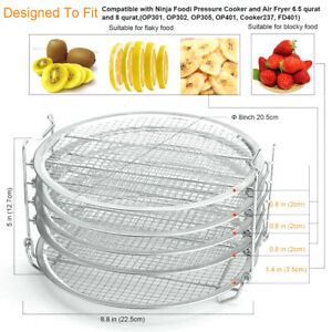 Stainless Steel Dehydrator Rack Air Fryer Stand 6 5 8 Quart For Foodi
