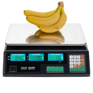New 88lb 40kg Digital Weight Scale Price Computing Price Food Meat Produce Deli