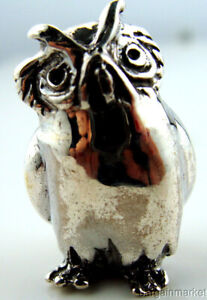 Sterling Silver 925 Miniature Wise Owl Figurine S7