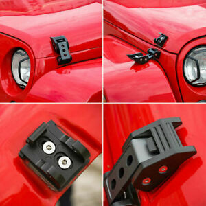 For Jeep Wrangler Jk 07 17 Unlimited Parts Black Hood Latch Locking Catch Buckle