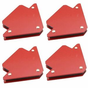 4pcs 25 Lbs Strong Welding Magnets Welder Tool Magnetic Arrow Clamp Holder Set