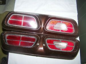 Antique Tail Light Ford Mercury Comet Assembly Pair