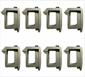Set Of 8 Aluminum Cap Topper Moungting C Clamps For Non drilling Truck Rack