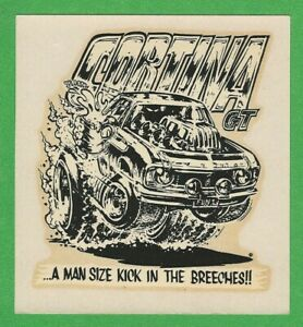 Vintage Original 1968 Ed Roth Ford Cortina Gt Gasser Water Decal Art Mint