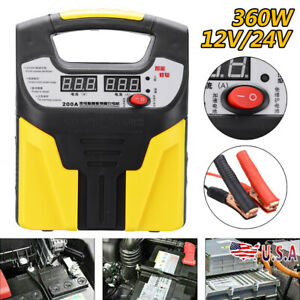 Car Battery Charger Intelligent Pulse Repair Jump Booster Starter 12v 24v 360w