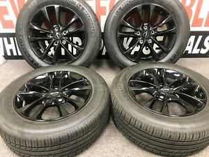 18 Chrysler Pacifica Gloss Black Wheels Rims Factory Oem Tires Michelin