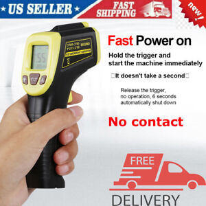 Digital Thermometer Infrared Handheld Temperature Non contact Ir Laser Point Usa