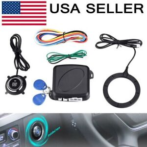 12v Car Ignition Switch Rfid Engine Start Push Button Keyless Entry Starter Kit