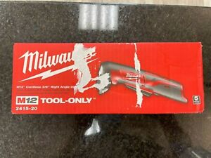 Milwaukee 2415 20 M12 Cordless 3 8 Right Angle Drill tool only new