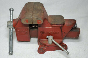 Vintage Columbian D63 1 2 Swivel Bench Mount 3 1 2 Vise Pipe Jaw Forming Anvil