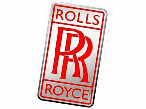 Rolls Royce Chrome black Radiator Vintage Rr Red Logo Badge Classic Car