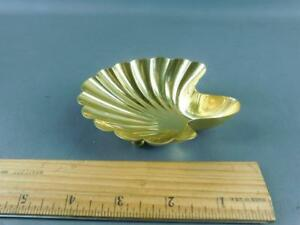 Vintage Tiffany Gold Plated Sterling Footed Shell Trinket Holder Candy Dish