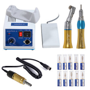Dental Lab Marathon Electric Micromotor N3 Slow Speed Handpiece Hp Burs Gold
