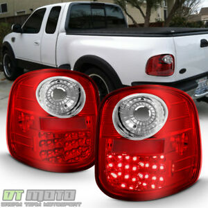 For 1997 2003 Ford F150 F 150 Flareside Red Lumileds Led Tail Lights Brake Lamps