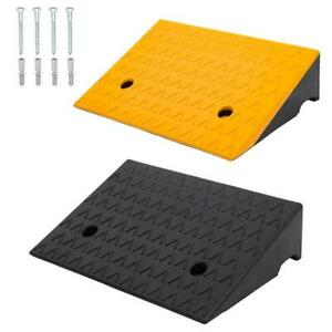 2x Of Heavy Duty 6800lbs Load Rubber Leveling Kerb Ramp 5 High Car Wheelchair