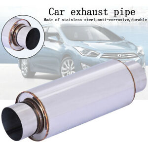 Vibrant 1142 2 5 Inch Ultra Quiet Resonator Exhaust System Car Muffler Universal